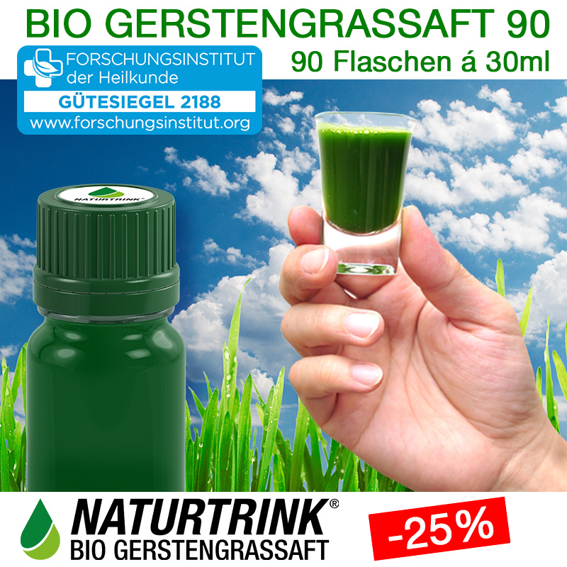 NATURTRINK BIO GERSTENGRASSAFT 90